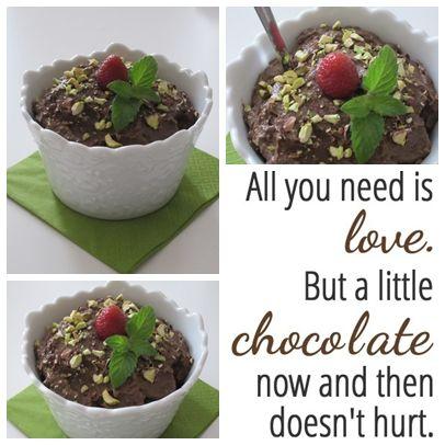 Zdrav čokoladni puding