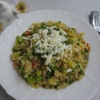 Zelenjavna kvinoja s sirom
