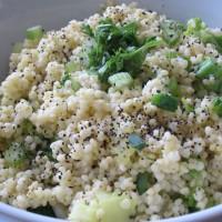 Prosena, zeleno-bela rižota