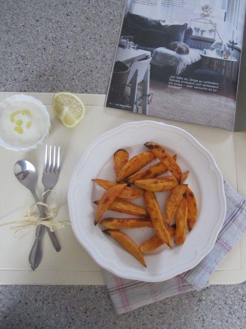 Pečen sladek krompir