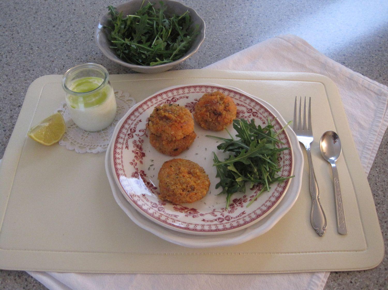 Polpetk iz kvinoje in sladkega krompirja