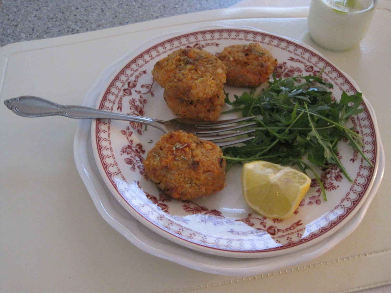 Polpetki iz kvinoje in sladkega krompirja