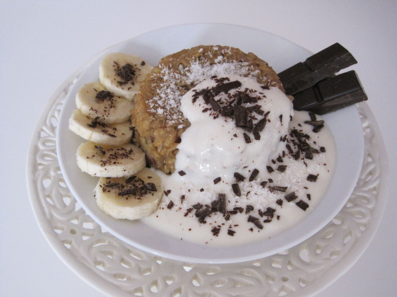 Bananini ovseni kosmiči, v pečici