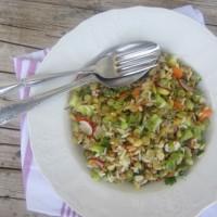 Solata z lečo in rižem