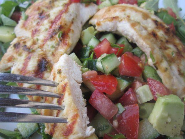 chicken + avocado salsa