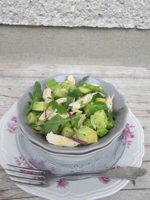 chicken avocado & cucumber salad