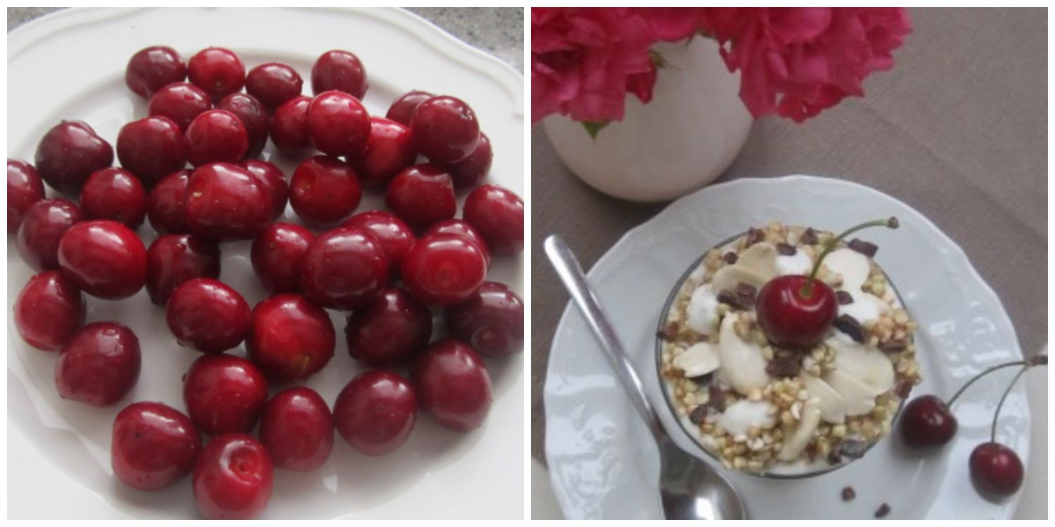 cherry buckwheat parfait