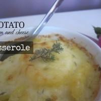 Krompirjeva zloženka s smetano in sirom