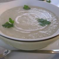 Kremna juha iz gomoljne zelene in koromača
