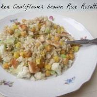 Piščančja rižota s cvetačo