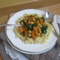 Prosena kaša s bučnim curryjem