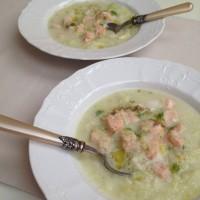 Kremna koromačeva juha z lososom