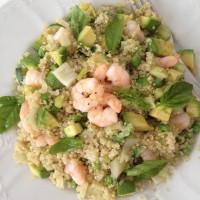 Kvinojina poletna rižota z gamberi