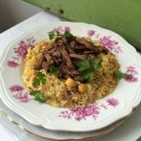 Riž in jagenjček po orientalsko