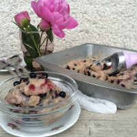 Borovničev sladoled brez laktoze (in s prav posebno sestavino)