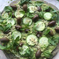 Zelena veganska pica