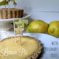 Limonina pita z rožmarinovo skorjico