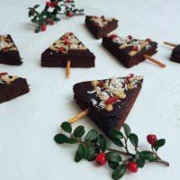 Božični brownie kolački