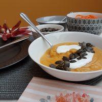Kremna juha rdeče leče z bučo maslenko