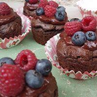 Brezglutenski čokoladni muffini