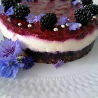Sirčkova torta z gozdnimi sadeži